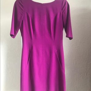 Tahari Purple Career Dress with Pockets